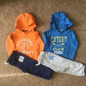 Carter's hoodie outfits set of 2